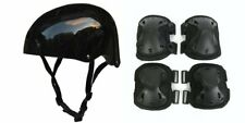 Helmet & Pads, 5 Piece Set for Adults - Sports & Safety Helmet with 2 Knee & 2 E