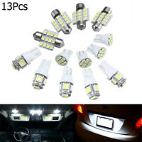 13Ps Car White LED Light Kit for Stock Interior Dome License Plate Lamp Bulb 12V