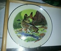 """Smallmouth Bass Fish, Signed Rod Ruth, 10 1/4"""" Collector Plate MI USA"""