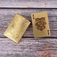 Jeu de table motif de dragon avec jeu de cartes en PVC doré à l'eau, plaqué RZ