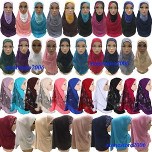 One Piece AI Amira Hijab Women Muslim Head Scarf Shawl Wrap Turban Instant Hijab