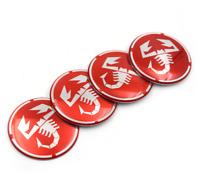Scorpion Abarth Emblem Hub Caps Hub Cap Hub Caps Hubs 4x65mm logo fiat 500