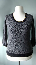 Scoop Neck 3/4 Sleeve Spotted Jumpers & Cardigans for Women