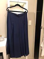 Veronika Maine Violet Wide Leg Culottes Size 14