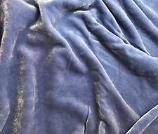 "Hand Dyed Silk VELVET Fabric Periwinkle Blue 45"" by the yard"