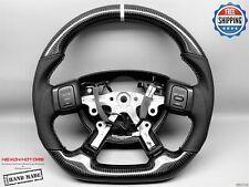 Dodge Ram Dakota Durango White Ring Perforated Flat Thick Carbon Steering Wheel