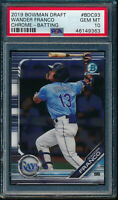 PSA 10 WANDER FRANCO 2019 Bowman Chrome Draft VARIATION Rookie Card RC GEM MINT