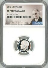 2012 S SILVER ROOSEVELT DIME 10C NGC PF 70 ULTRA CAMEO D3