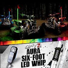 AURA 6ft Multi-Color LED Whip SINGLE Flag Antenna Offroad 4x4 ATV Side Sandrail