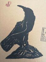 biilly childish blackbird one colour serigraph on cardboard ltd edition 3/10.
