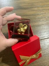 Feng Shui Elephant Statue 24K Gold Foil Lucky Elephant Office Home Wealth Crafts