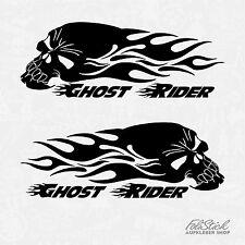 Ghost Rider Aufkleber Skull mit Flammen Motorradtank 2 Stück