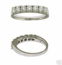 New Platinum 7 Round Diamond Ladies Wedding Ring
