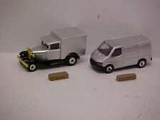 MODIFIED MATCHBOX 1/75 69 Transit Van & 30s Ford Van Hearse With Casket /Coffin