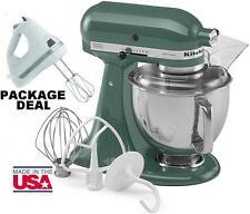 KitchenAid Stand Mixer Tilt 5 Quart Ksm150psbl Artisan Green + Free Hand  Mixer