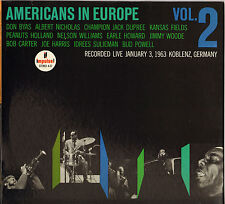 "DON BYAS / BUD POWELL ""AMERICANS IN EUROPE"" VOL. 2 JAZZ 60'S LP IMPULSE"