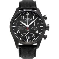 Alpina Startimer Pilot Men's Quartz Big Date Chronograph 42mm Watch AL-372B4FBS6