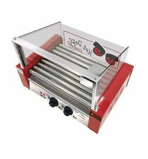 NEW COMMERCIAL STAINLESS STEEL HOT DOGS BROILER (9 ROLLERS) SAUSAGES MACHINE