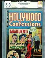 Hollywood Confessions 1 CGC 6.0 Joe Kubert cover Rockford Pedigree 1949 St. John