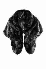 Women  Faux Fur Bridal Wedding Plain Winter Party Warm Shawl Shrug Wrap UK