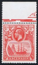 Ascension 1924 SG12e 1 1/2d Rose-Red LINE THROUGH 'C' U/M Marginal Cat. £180.00