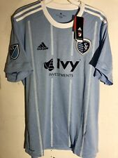 Adidas MLS Jersey Kansas City Sporting Team Light Blue sz XL