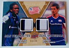 2012 Upper Deck MLS Teammates Dual Materials Premium Joseph/Feilhaber #3/25