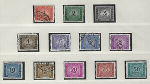 ITALY - 1947-1957 POSTAGE DUE USED STAMPS