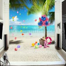 Toile de Fond Backdrop Tissu 1x1.5m Photographie Studio Photo Plage Mer Ballon