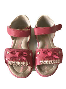 Girls Pink Sandals Size UK 6 Adjustable Straps