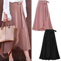 Women Ladies Fashion Casual Party Long Warp Skirt AU Size 6 8 10 12 14 16 #0403