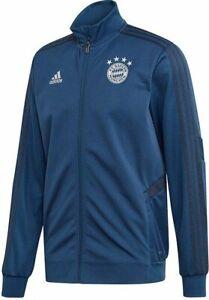 adidas FC Bayern Munich Training Jacket Sizes XS XL Blue RRP £75 Brand New