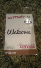 Cottage Cutz designs metal cutting die - Welcome word