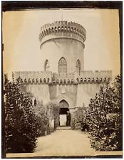 Italie, Pegli, Villa Pallavicini, Fortezza  Vintage albumen print. Tirage albu