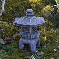 Massive japanische Steinlaterne Oki Gata Yukimi Farbe antik Steinguss frostfest