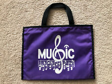 Music Bag ~ Great for music lesson books ~ Purple Piano