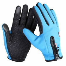 Adult Thermal Cycling Snow Skiing Gloves Waterproof Touch Screen Winter Warm UK Black L