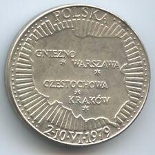 GY666 - Medaille Polen 2-10.VI.1979 Papstbesuch Johannes Paul II. Polska