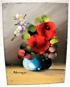 """Vintage Miniature 3""""x4"""" Dollhouse Real Oil Painting Signed"""