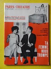 Paris Théâtre n° 227 Alexandre Breffort Ta Femme Nous Trompe Pierre Brasseur