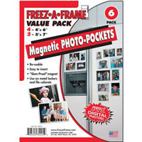 Freez A Frame Combo Pack 4-4X6 & 2-5X7 Magnetic Photo Frames 6 PACK (34425)