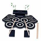 Electronic Drum Set,Electric Midi Drum Kit,Portable Roll Up Drum Practice