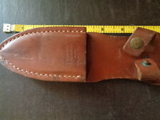KNIFE-CRAFTERS THROWING KNIFE  LEATHER SCABBARD TRIPLE