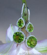 Natürliche echte Diamant-Durchzieher-Ohrschmuck