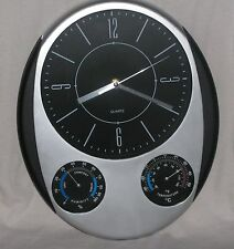 Fine Life Weather Station Quartz Wall Clock Time Temperature Humidity811676