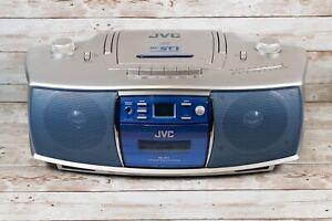 JVC RC-ST1 Vintage Portable Radio CD Cassette Tape Player/Recorder Boombox