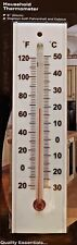 INDOOR / OUTDOOR THERMOMETER. LARGE EASY TO SEE DIGITS. MERCURY FREE.