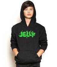 Jelly TEXT Hooded Jumper YouTube Viral Gamer Hoodie Kids & Adults Sizes
