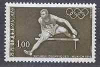 France 1972 MNH Mi 1802 Sc 1348 Hurdler. Olympic Games, Munich.Germany **