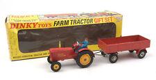 Vintage Dinky Toys 399 Farm Tractor & Trailer Gift Set 1969-75 *MIB*